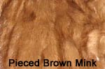 Pieced Brown Mink fur image
