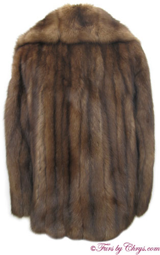 Royal Crown Russian Sable Fur Jacket Back image