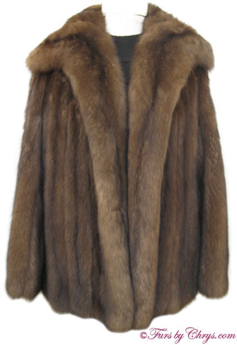 Royal Crown Russian Sable Fur Jacket Front image