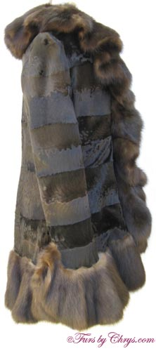 Russian Broadtail Lamb and Sable Jacket Side image