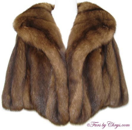 Barguzin russian sable stole rs684 furs by chrys - Stoel fur ...