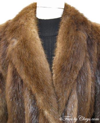 Beaver Fur Coat B514 - Furs by Chrys