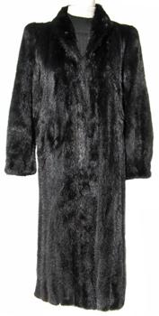 Vintage Black Mink Fur Coat BM543 - Furs by Chrys