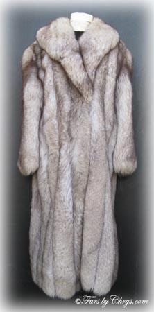 Blue Fox Fur Coat BF628 - Furs by Chrys