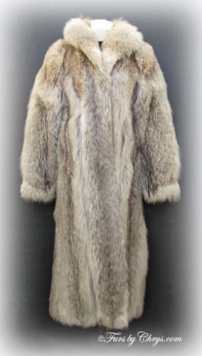 Ankle Length Ankle Length Coyote Fur Coat C655 Furs By Chrys