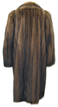 Alixandre Fisher Fur Coat Back image