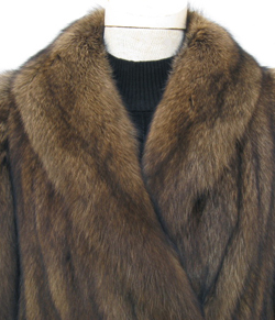 Alixandre Fisher Fur Coat Collar Close Up image