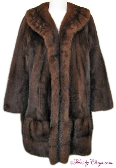 Vintage Mahogany Mink Coat MM694 - Furs by Chrys