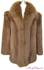 Mahogany Mink and Brown Fox Fur Jacket image