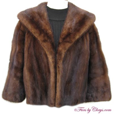 Vintage Mahogany Mink Jacket MM654 - Furs by Chrys