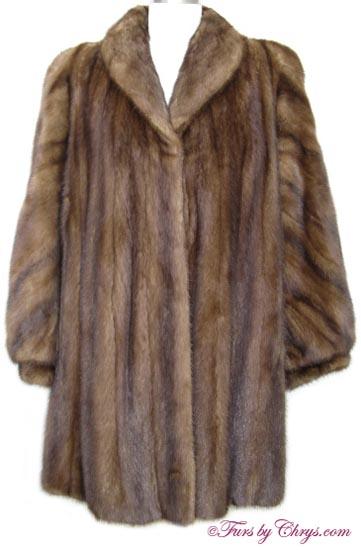 Bill Blass Mahogany Mink Stroller Coat MM687 - Furs by Chrys