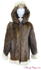 Hooded Mens Beaver and Coyote Parka image