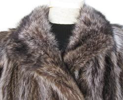 Silver Tip Raccoon Fur Coat R510 - Furs by Chrys
