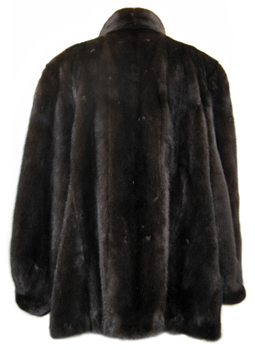 4X Plus Size Ranch Mink Jacket Back image