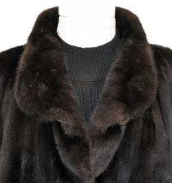 4X Plus Size Ranch Mink Jacket Collar Close Up image