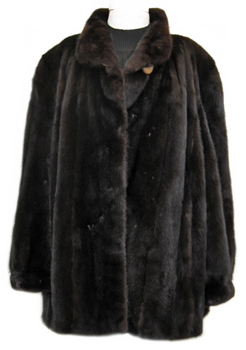 4X Plus Size Ranch Mink Jacket Front image