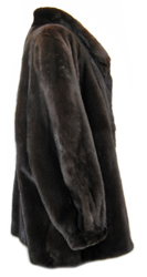4X Plus Size Ranch Mink Jacket Side image