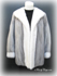 Silver and White Mink Fur Jacket image
