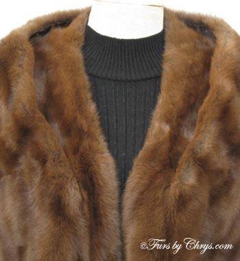 Vintage Squirrel Fur Stole Collar image