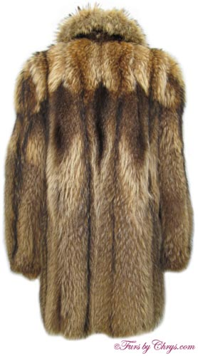 Tanuki Raccoon Fur Stroller Jacket Back image