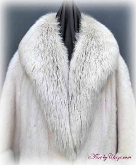 vintage tourmaline mink and amber fox fur coat tmf704