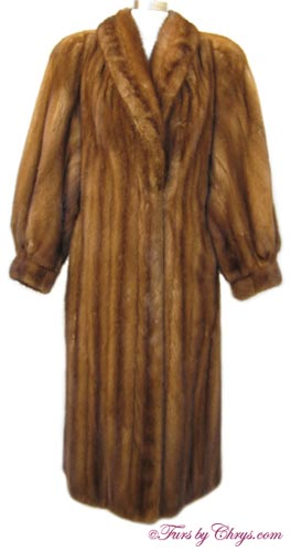 Whiskey Mink Fur Coat WM632 - Furs by Chrys